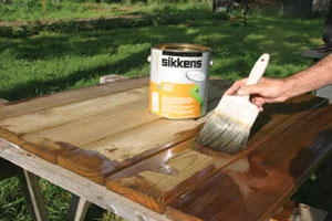 Finishing an Outdoor Table
